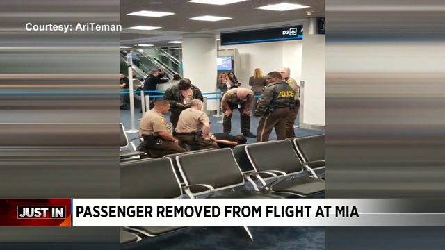 Passenger removed from American Airlines flight in Miami