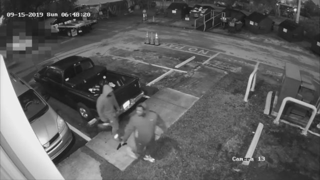 Police release video showing flea market robbery spree
