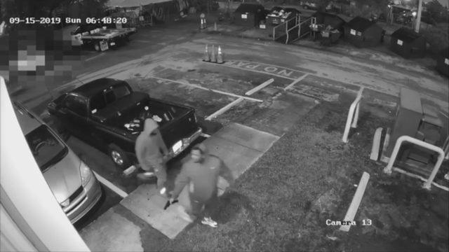 Police release surveillance footage of flea market robbery spree