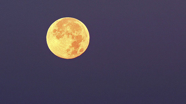 Sure sign of fall as full orange Hunter's Moon to appear in night sky