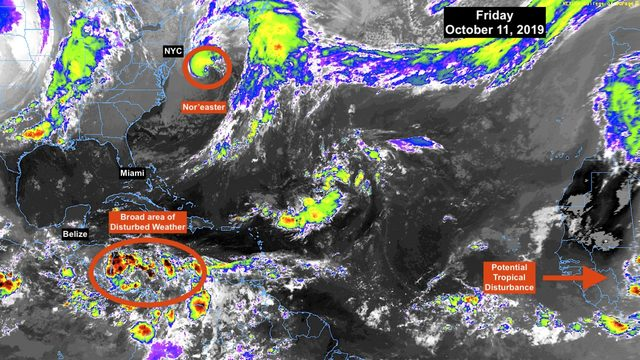 Eyes on Caribbean disturbance, no effect on Florida expected