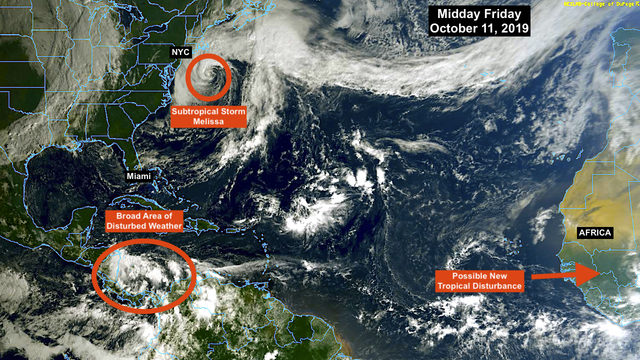Subtropical storm in Mid-Atlantic gets name