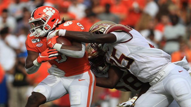 No. 2 Clemson pounds Florida State 45-14 for 21st straight win