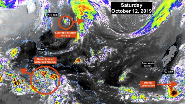 Fairly quiet in tropics as Melissa moves away from Northeast coast