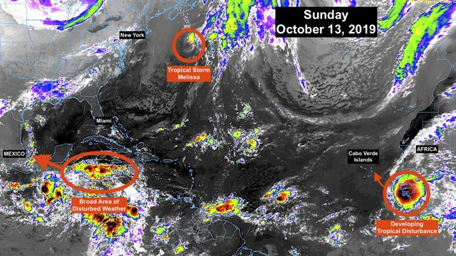 No tropical storms expected to impact Florida; Melissa now well offshore…