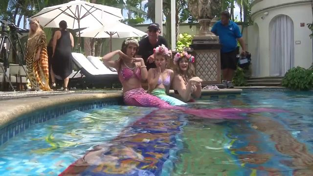 Girl's dream of becoming a mermaid becomes a reality
