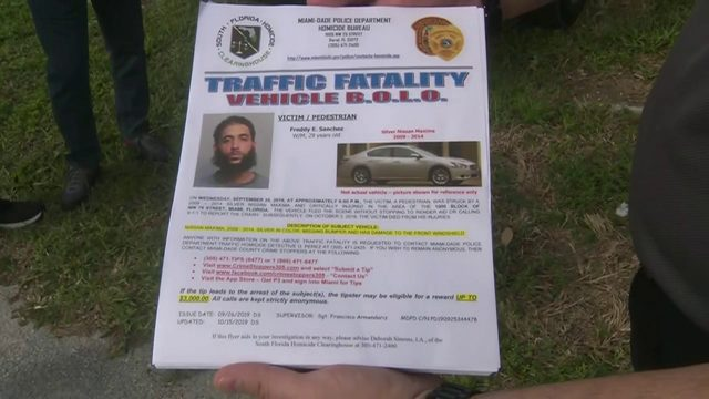 Police return to deadly hit-and-run scene, hand out flyers
