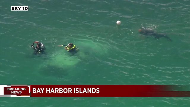 Woman taken by helicopter to hospital after being rescued from submerged vehicle
