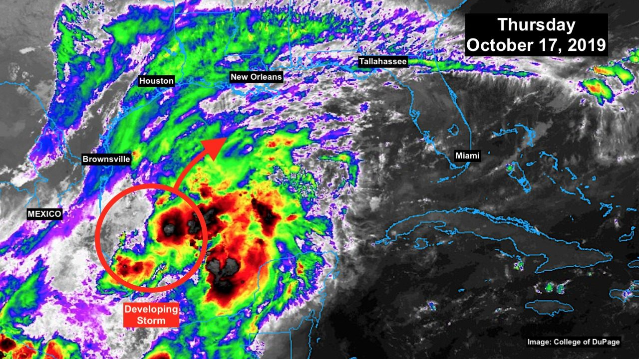 Tropical disturbance in Gulf likely to get a name