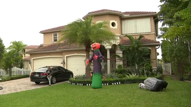 Vandals target home decked out for Halloween