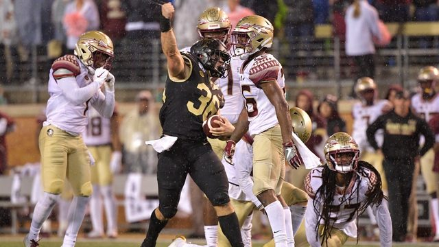 Sciba's 5 field goals lifts Wake Forest past Florida State 22-20
