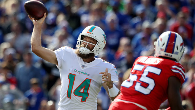 Ryan Fitzpatrick can't rally winless Dolphins past Buffalo