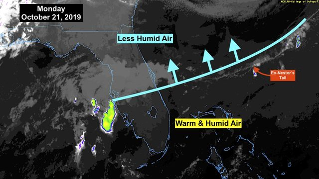 Tropics quiet as warm, humid weather continues