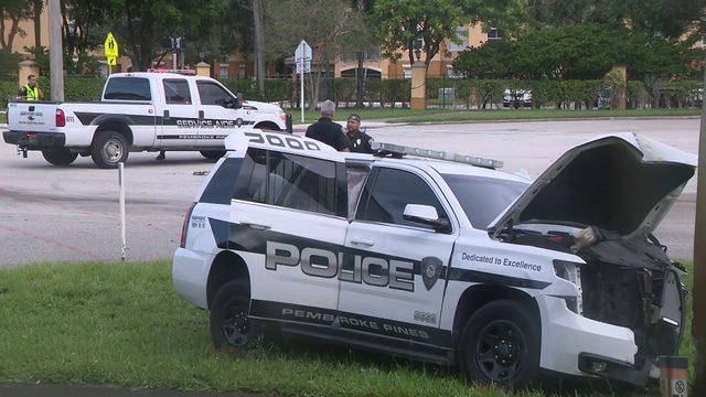 Coral Springs police officer injured in crash