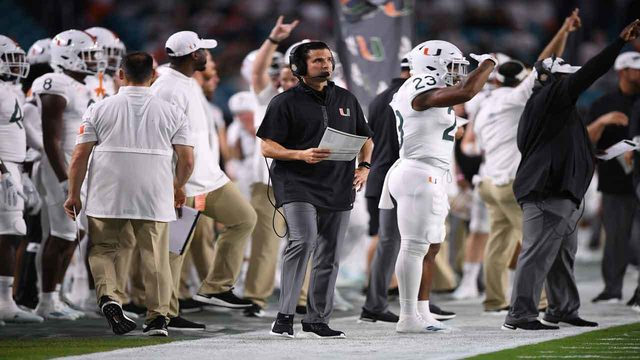 'We're 4 plays away from being 7-0,' Manny Diaz says of team