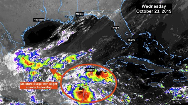 Slight chance of tropical development in southern Gulf