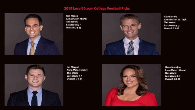 Local10.com college football picks: Week 9 results