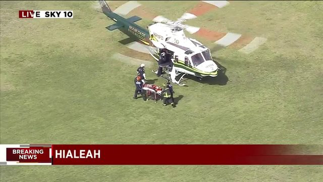 Shooting in Hialeah involves multiple crime scenes; victims airlifted to…