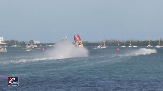 Speed boats collide during competition in Key West