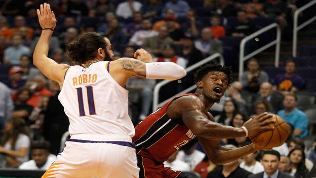 Butler, Dragic lead Heat to 124-108 win over Suns