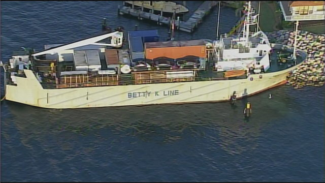Cargo ship runs aground in Miami after losing propulsion