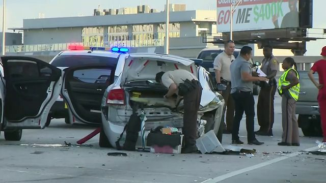 Drunk driver crashed into marked police cruiser on I-95
