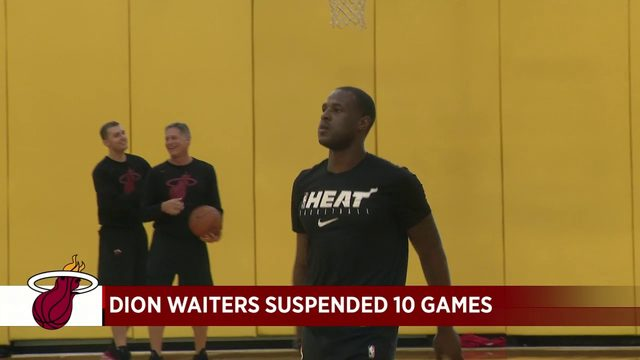 Heat suspend Dion Waiters 10 games after incident on team flight