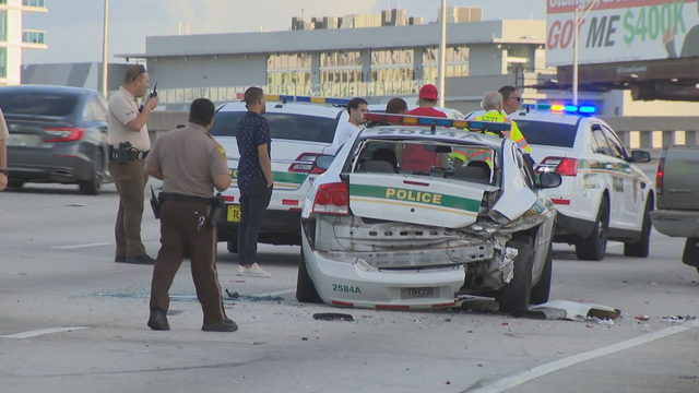Drunken driver crashed into marked police cruiser on I-95