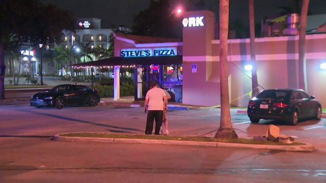 2 wounded in shootout outside Steve's Pizza