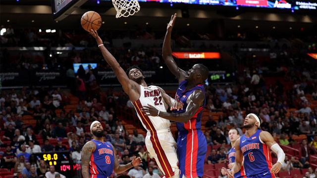 Heat take big lead, coast to 117-108 win over visiting Pistons
