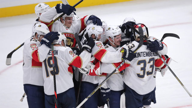 Panthers complete historic comeback in Boston, win 5-4 in shootout