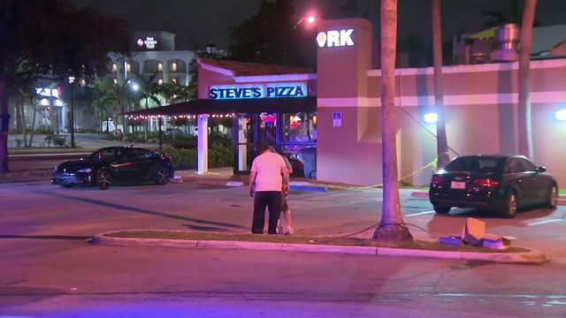 Police investigate apparent shooting outside Steve's Pizza