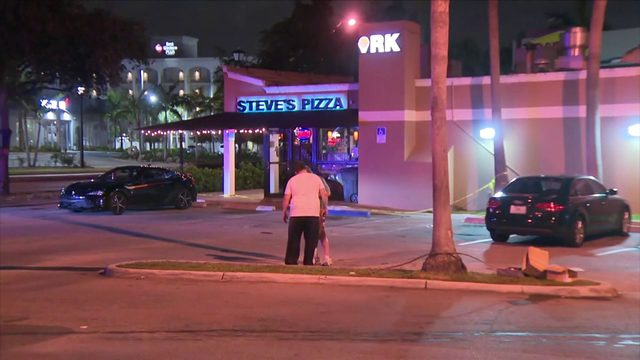Shooting outside popular pizza place lands two people in hospital