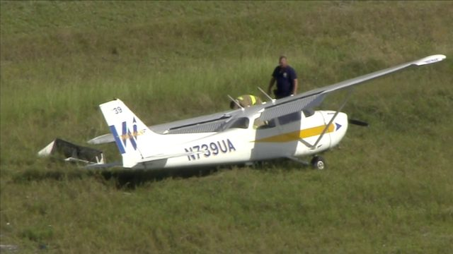 Small plane makes crash landing at North Perry Airport