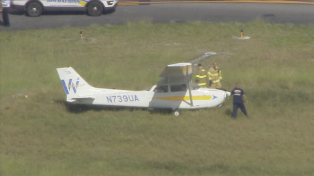 Small plane makes crash landing at North Perry Airport