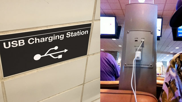 Officials warn against using public USB charging stations
