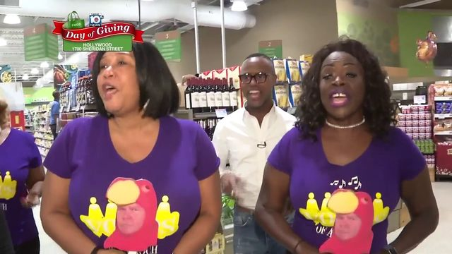 Day of Giving: Layron Livingston sings with the choir