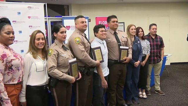 Teen meets first responders who saved his life
